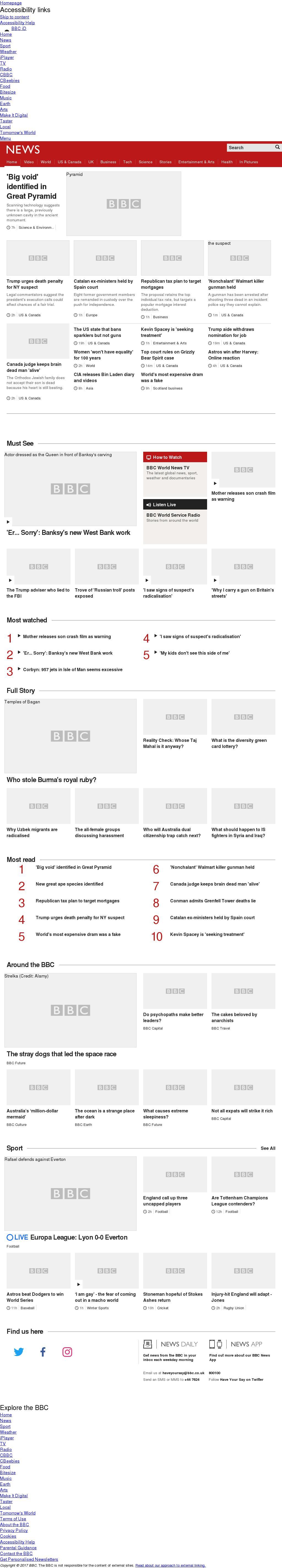 BBC at Thursday Nov. 2, 2017, 7 p.m. UTC