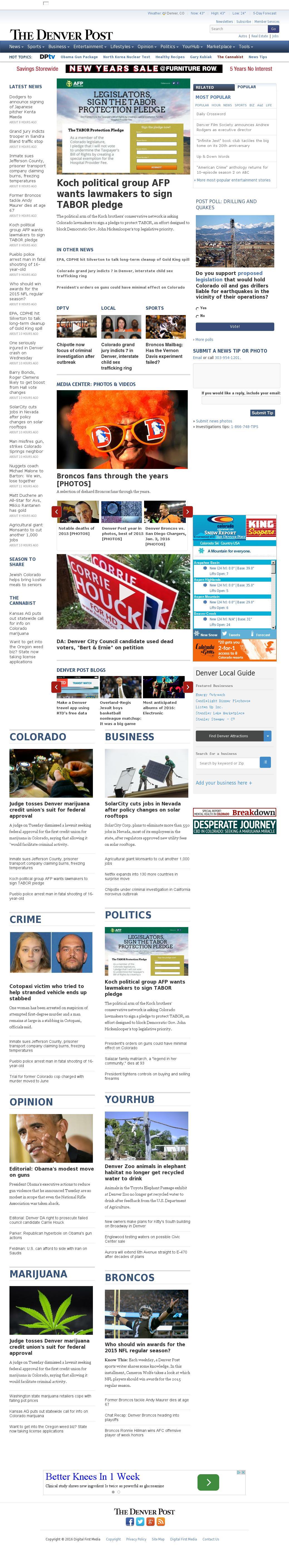 Denver Post at Wednesday Jan. 6, 2016, 11:04 p.m. UTC