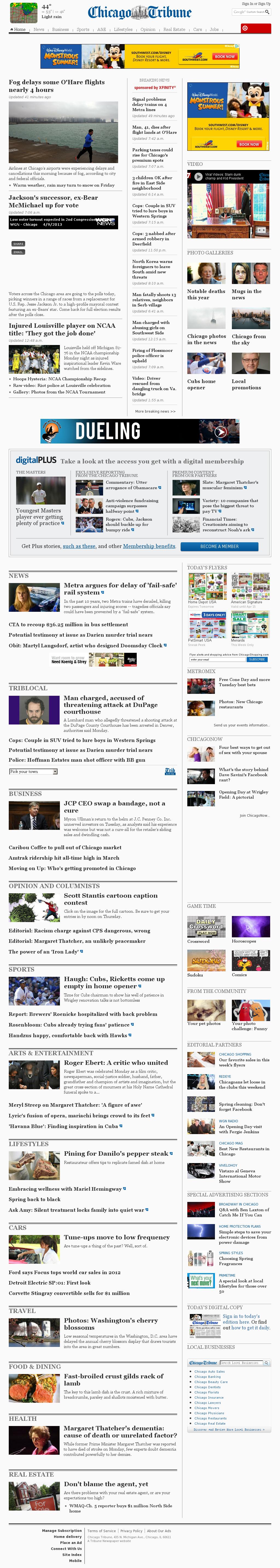 Chicago Tribune at Tuesday April 9, 2013, 3:06 p.m. UTC