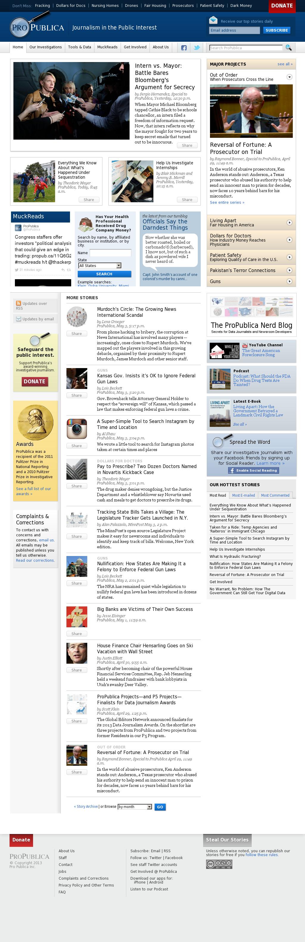 ProPublica at Tuesday May 7, 2013, 6:21 p.m. UTC